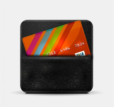Leather wallet for credit cards