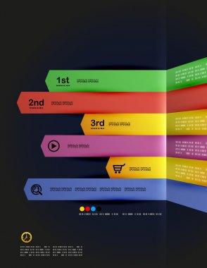 Modern minimal infographic arrows design
