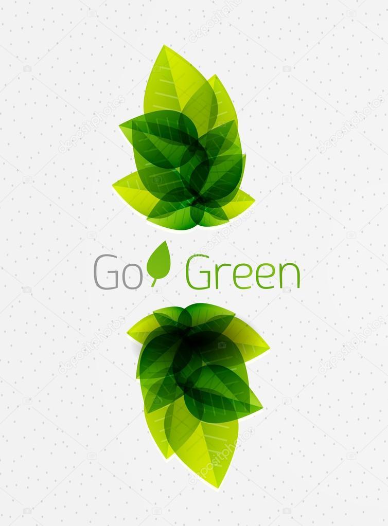 Hojas de color verde primavera / verano fondo de naturaleza ...