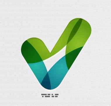 Positive checkmark / tick on paper design