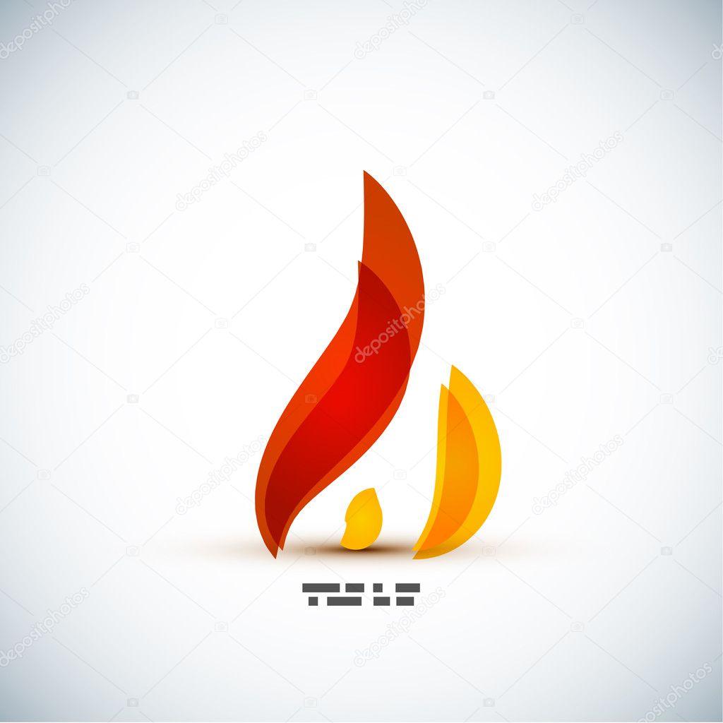 Bright fire concept vector design
