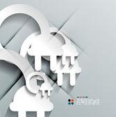 carta 3d vettoriale spina design moderno