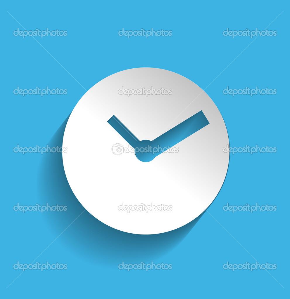 Zeitschaltuhr Symbol moderne flache Bauform — Stockvektor © akomov ...