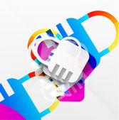 vektorové zámek moderní barevný design