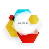 Regenbogen-Sechsecke-modernes Design-Vorlage