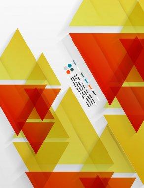Abstract orange triangles design