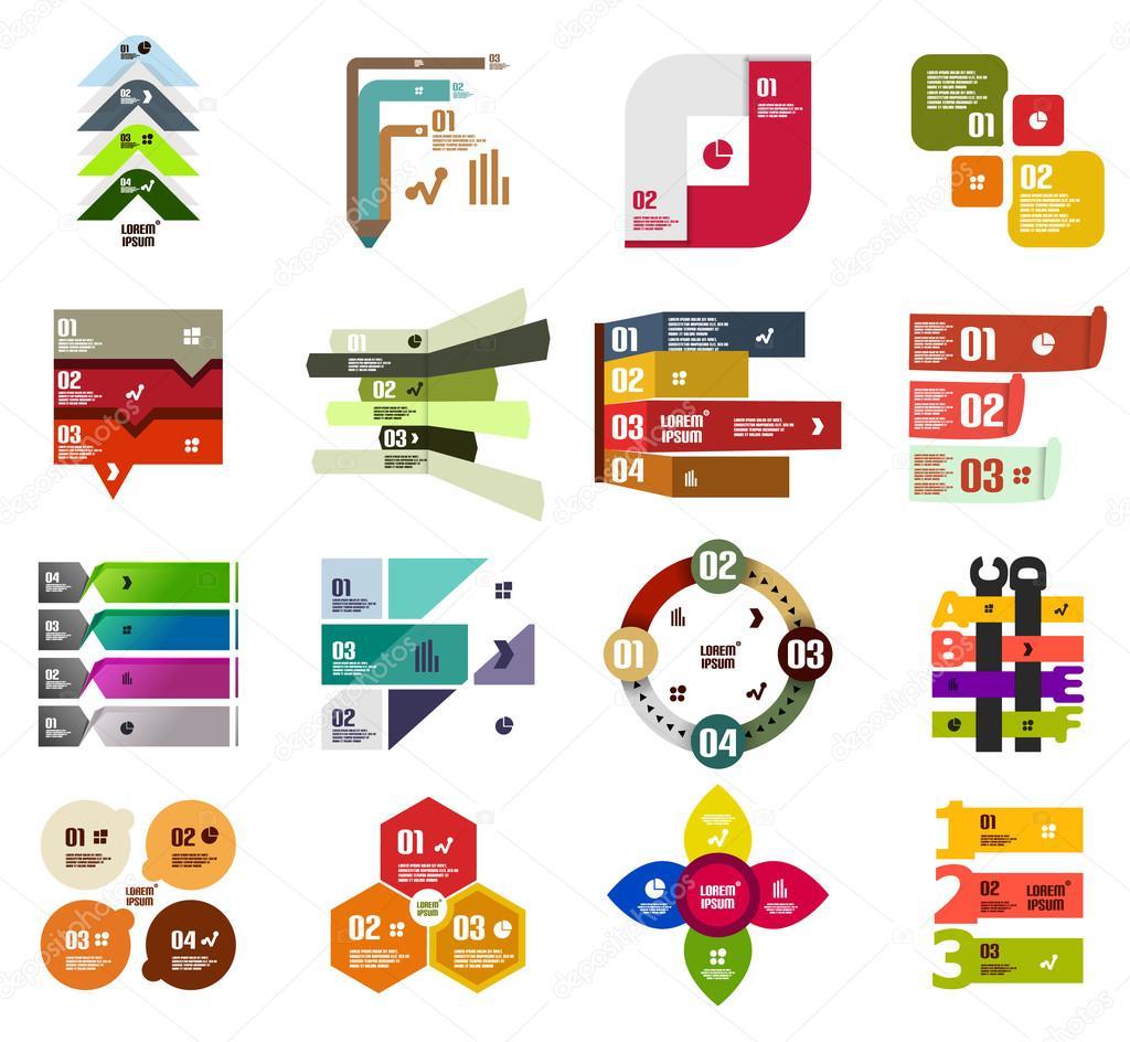 Set of modern infographic design templates