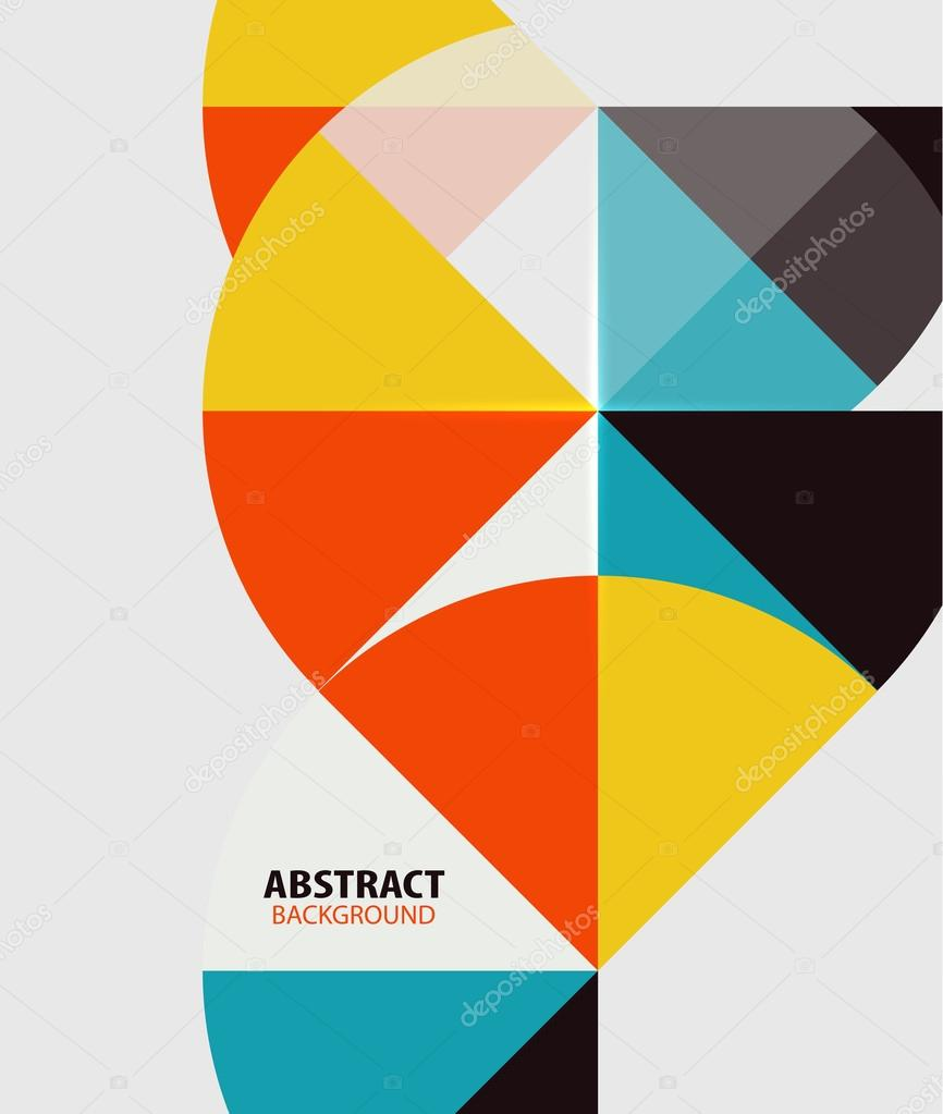 Colorful geometrical modern art minimal template