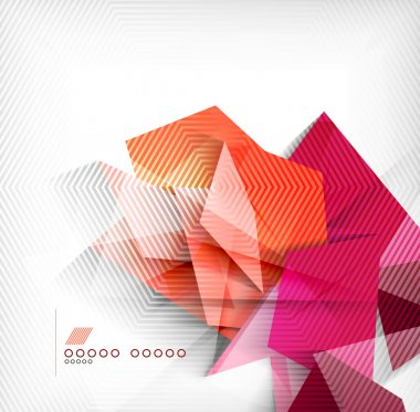 Geometric shapes abstract background stock vector