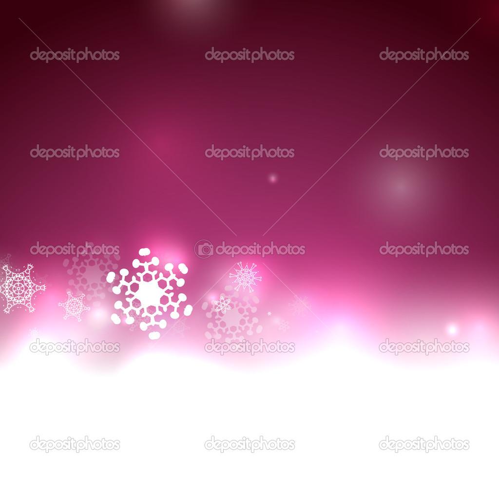 Paarse Kerstverlichting En Sneeuwvlokken Stockvector C Akomov