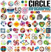 Fényképek hatalmas, modern kör infographic design sablon készlet