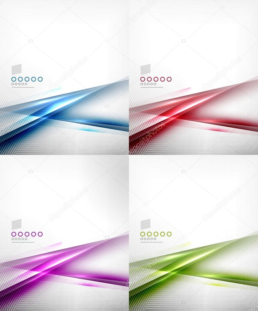 Satz von abstrakten Bewegung Linien-Design-Vorlagen — Stockvektor ...