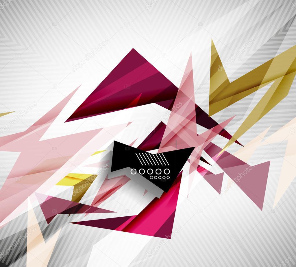 Motion geometric shapes - rapid straight lines