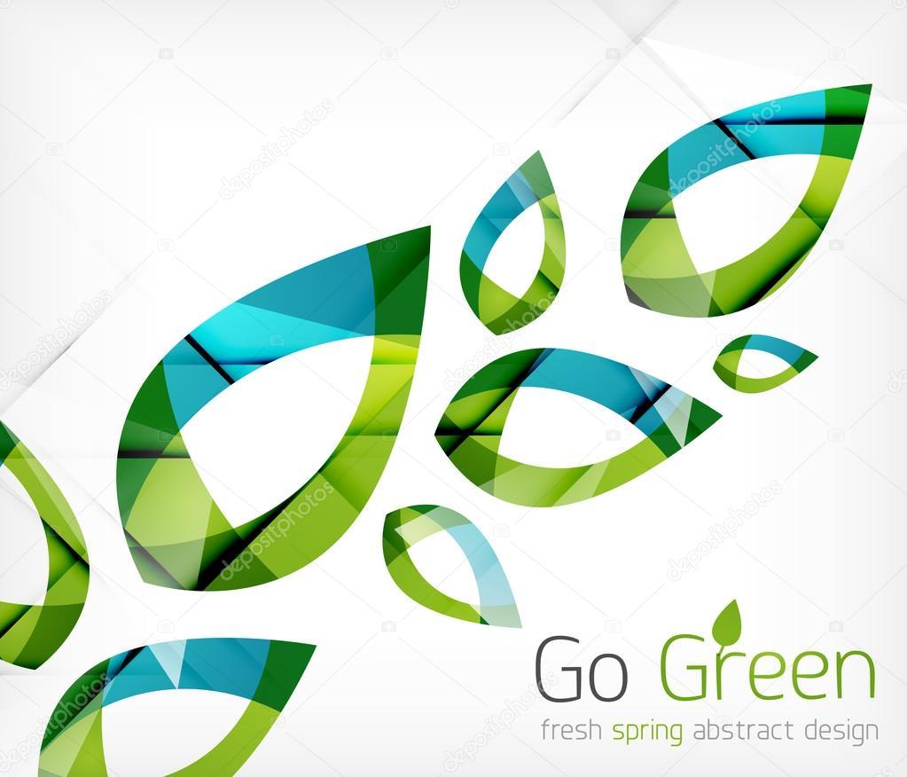 concepto de diseño de hojas de color verde primavera naturaleza ...