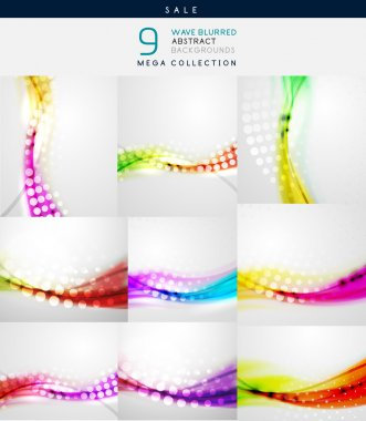 Vector blurred wave abstract backgrounds