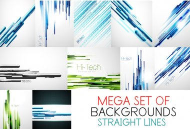Mega collection of straight lines backgrounds