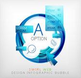 Kruh web design bubliny | Infographic prvky