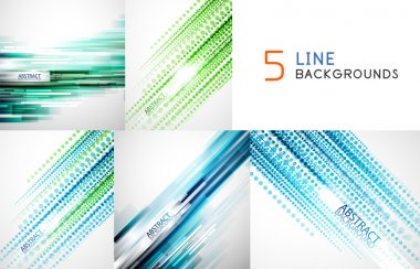 Straight line backgrounds