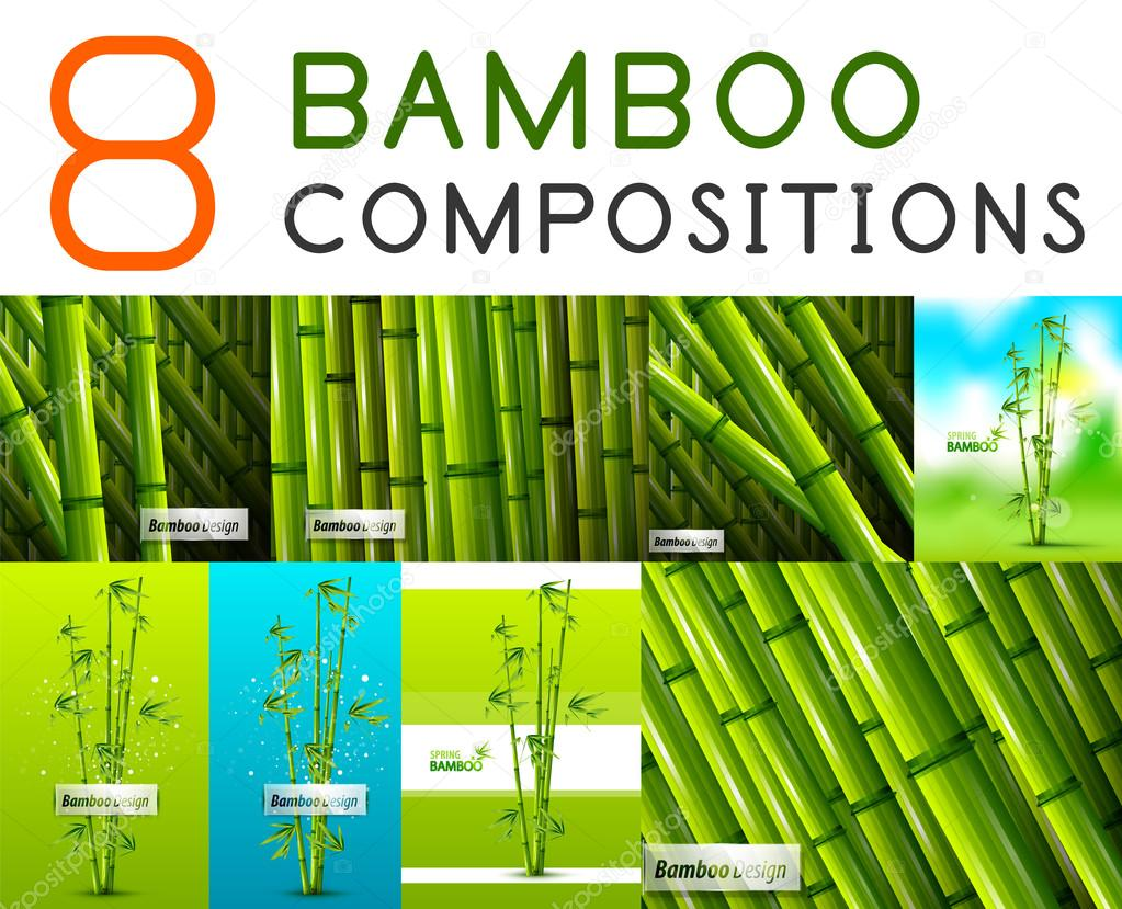 set of vector nature bamboo designs stock vector c akomov 46573479 https depositphotos com 46573479 stock illustration set of vector nature bamboo html