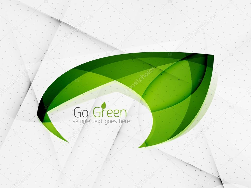 Green eco unusual background concept