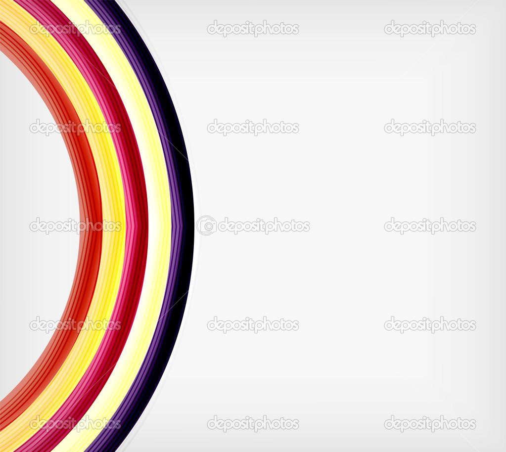 Plantilla de diseño de abstracción de la onda de arco iris color ...