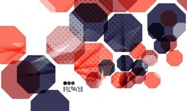 Bright colorful geometric modern design template