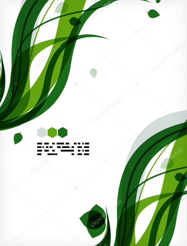 Colorful vector floral design templates