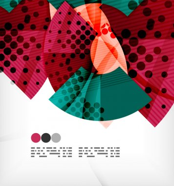 Semicircle geometric vector abstract background