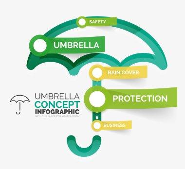 Umbrella infographic vector illustration