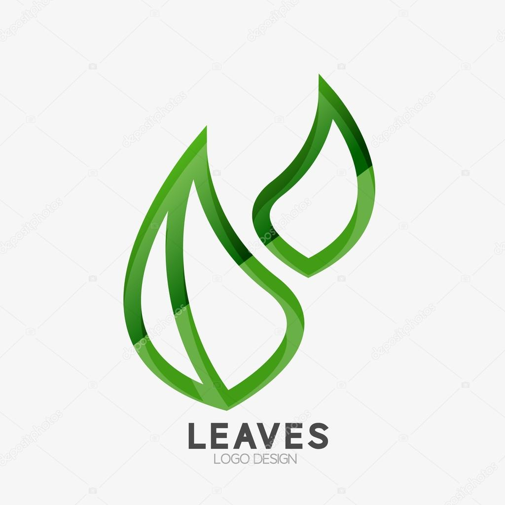 Green eco leaf logo