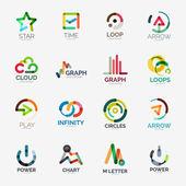 Fotografie Abstract company logo vector collection