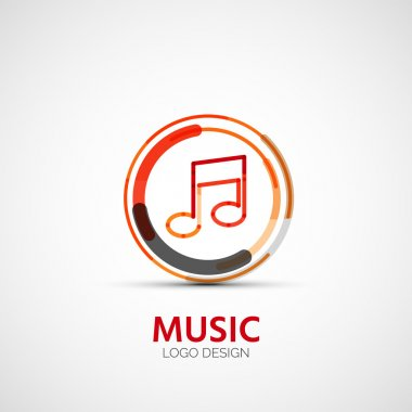 Vector music company logo, business symbol concept