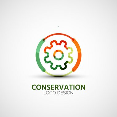 Gear company logo, business concept