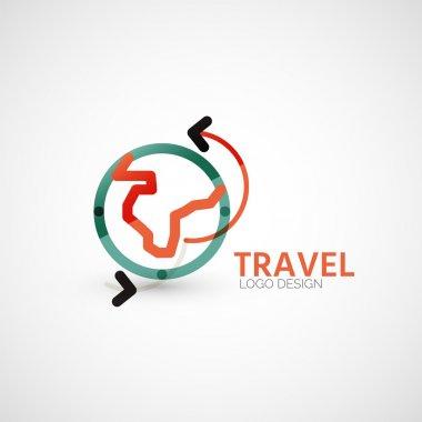 Vector travel company logo, business concept