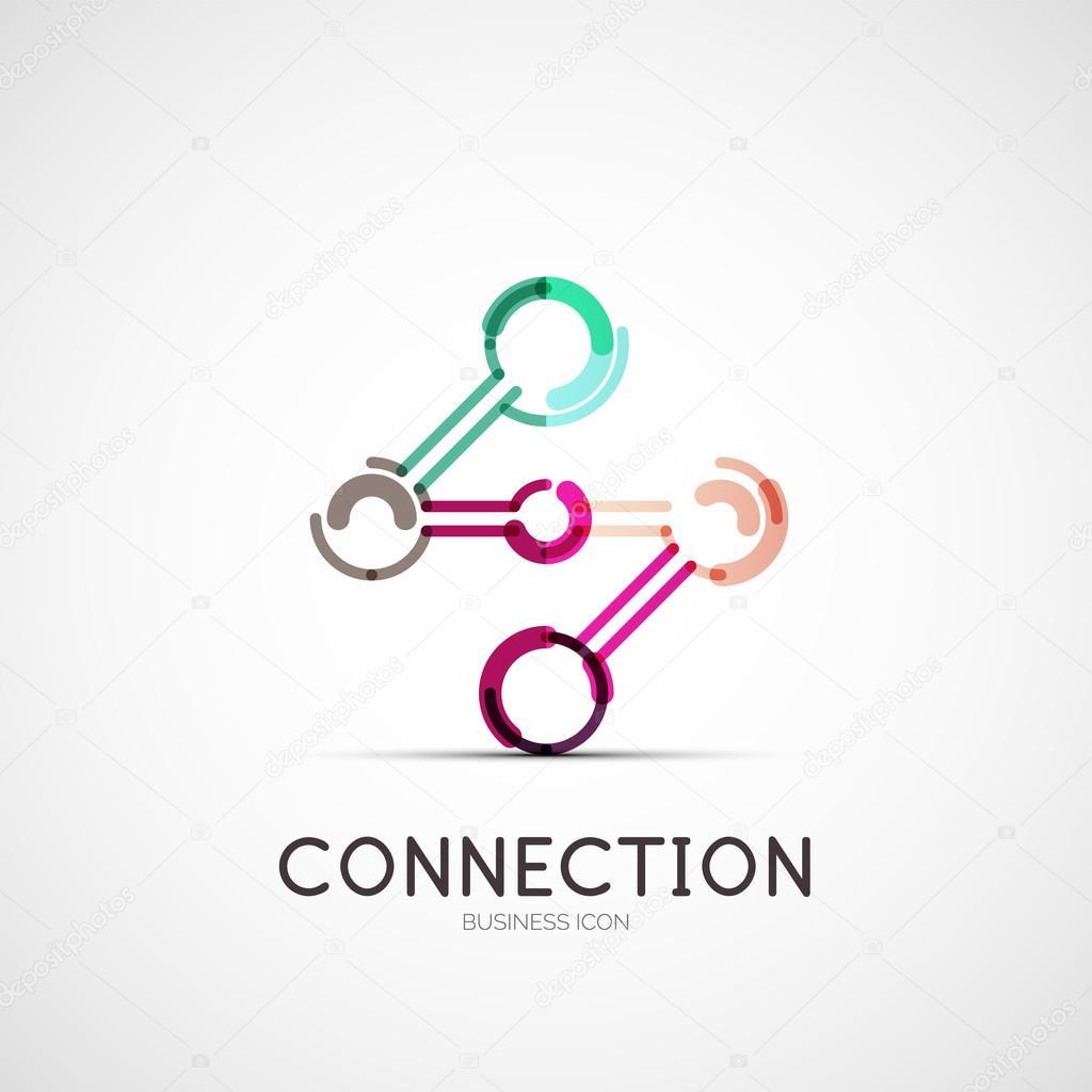 Verbindung Symbol-firmen-Logo, Unser Geschäftskonzept — Stockvektor ...