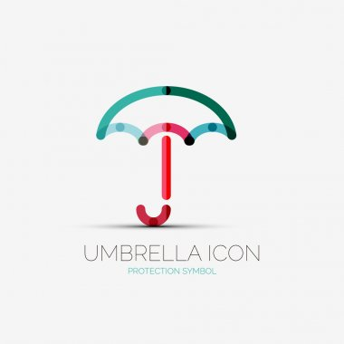 Umbrella, protection company logo, concept