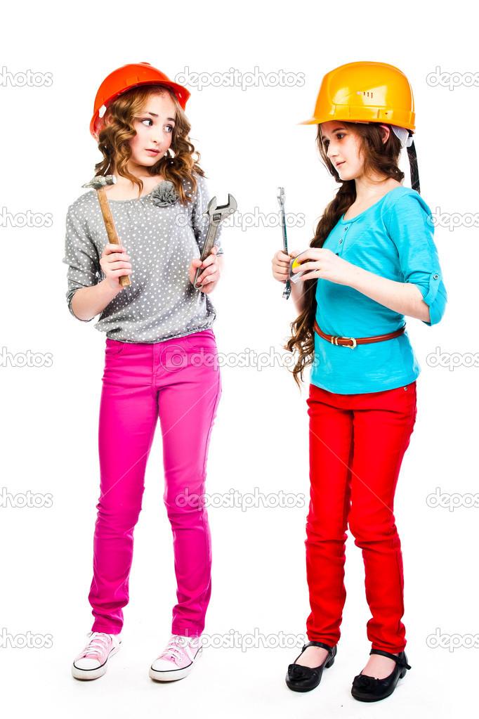 Сайт две девушки и строители похотливых