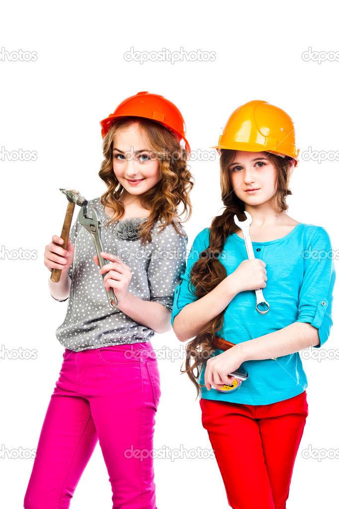 Две девушки и строители, русские жены просят в анал