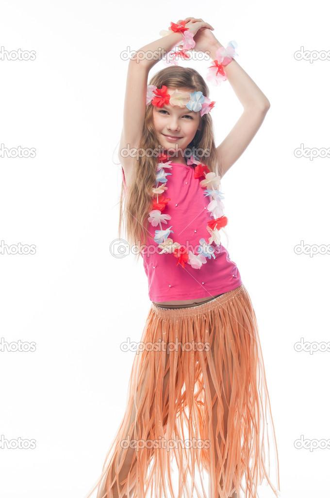 niño vestido de hawaiano — Foto de stock © korvin79 #23387042