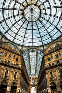 Old scenic galeria in Milano Italy