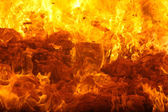Combustion of waste in a furnace