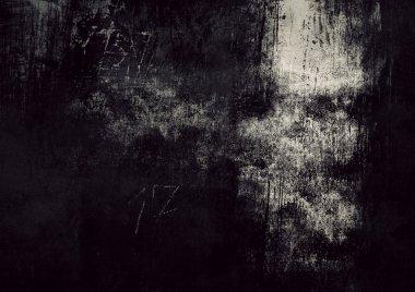 Grunge Dark Wall Background