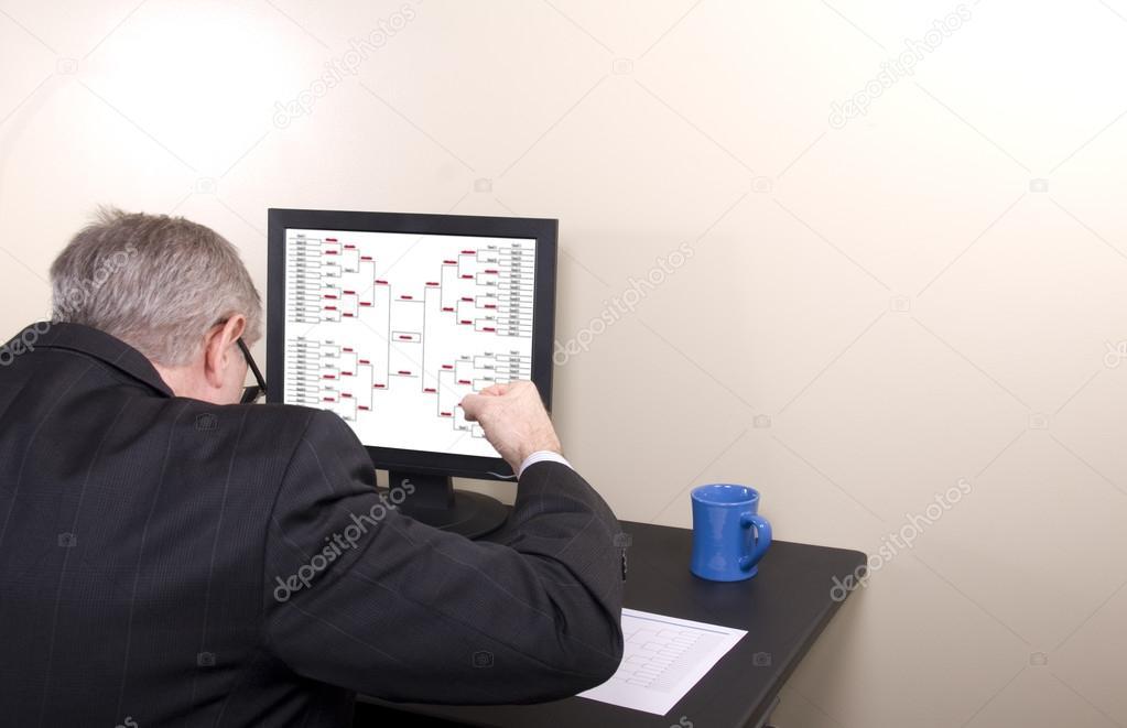 March Madness Businessman Banging Desk