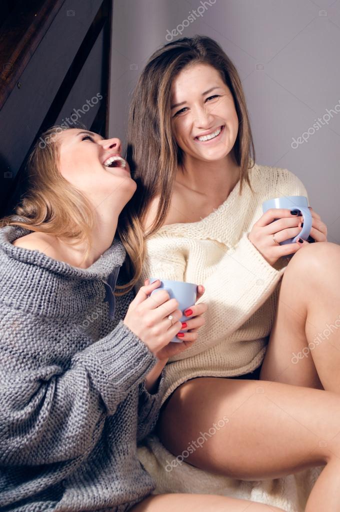 Sexy women having fun