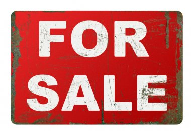 Rusty for sale sign