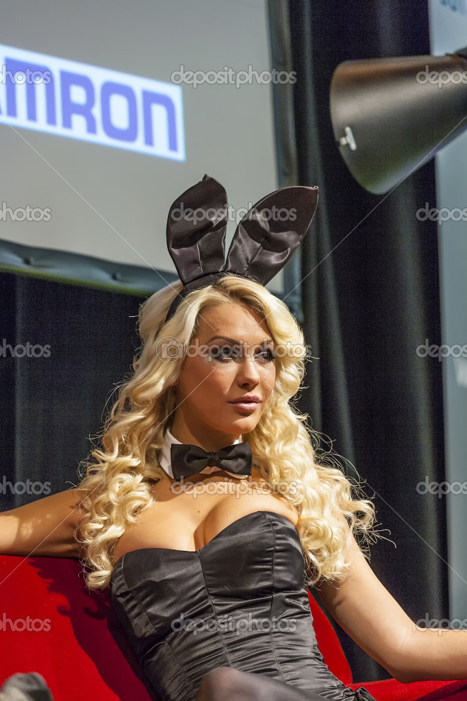 Sexy Models for Photokina - World of Imaging - for a public shoo — Stock  Photo