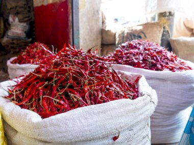 Colorful spices in Bangladesh