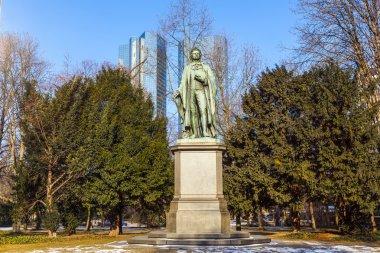 statue of Friedrich Schiller in Frankfurt