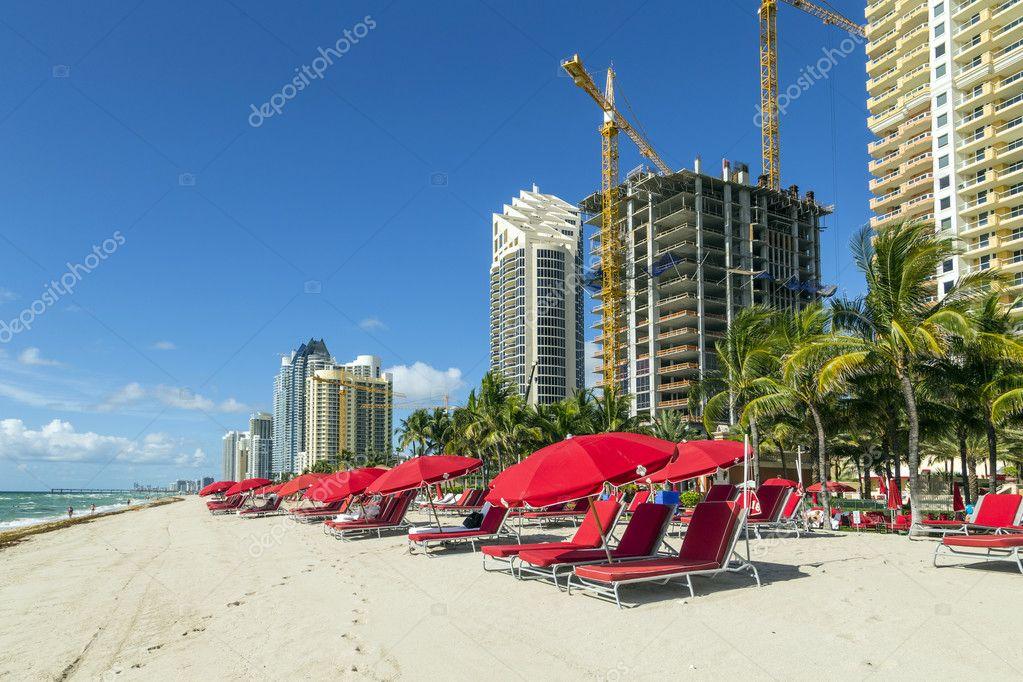 skyscraper at Sunny Isles Beach in Miami, Florida