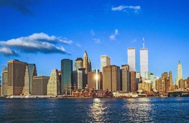 Lower mahattan and World Trade Center